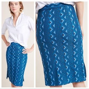 🆕NWT Anthropologie Embroidered Pencil Skirt